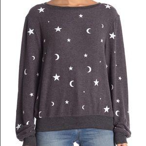 Wildfox 🌙 Moon & Stars Celestial Pullover Sweater